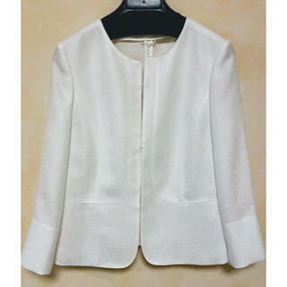 ANAYI - 【ANAYI】ノーカラージャケット(ホワイト)