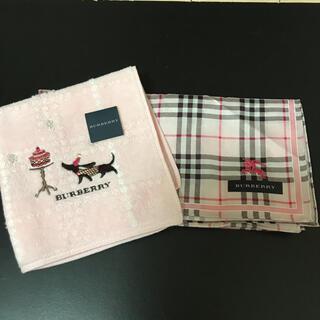 BURBERRY - バーバリーハンカチ Burberry ミニタオル ハンドタオル