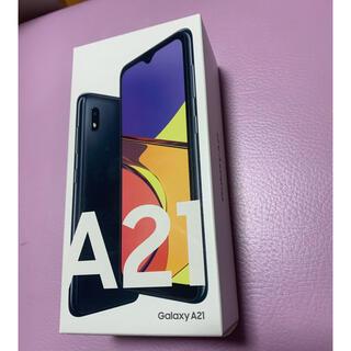Galaxy - Galaxy A21  ブラック 64gb SIMフリー 新品未開封 その2