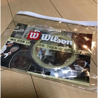 wilson - フェデラー ナチュラル/アルパワーラフ ハイブリッドガット テニス