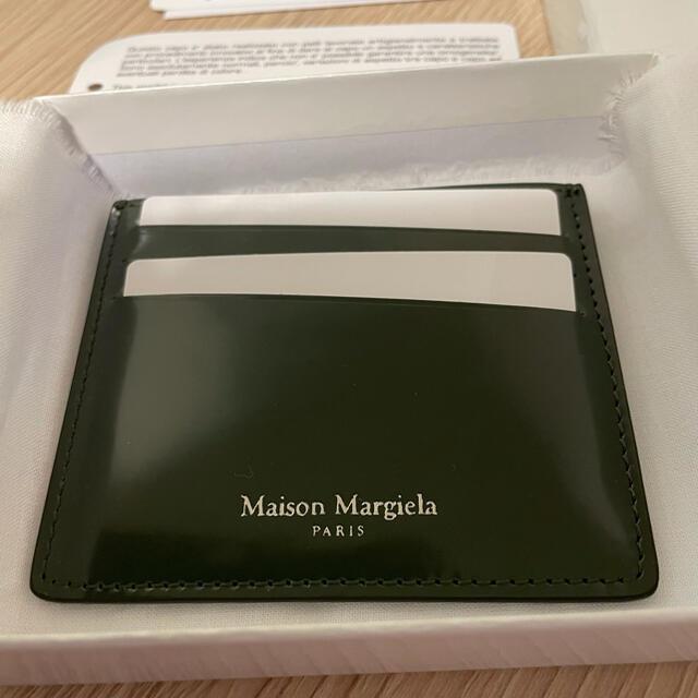 Maison Martin Margiela(マルタンマルジェラ)のメゾンマルジェラ Maison Margiela カードケース グリーン メンズのファッション小物(コインケース/小銭入れ)の商品写真