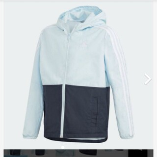 アディダス(adidas)の【新品】【サイズ:160】adidas フーデッド ウインドジャケット(ジャケット/上着)