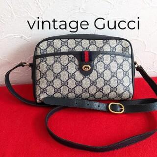 Gucci - 美品 レア!Gucci シェリーライン ショルダーバッグ ポシェット ネイビー