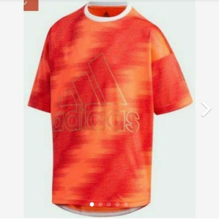 アディダス(adidas)の【新品】【サイズ:110】adidasキッズTシャツ(インスパイア赤)(Tシャツ/カットソー)