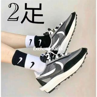 ナイキ(NIKE)のsacai NIKE ナイキ 靴下 新品未使用 2足セット ステッカー付き(ソックス)