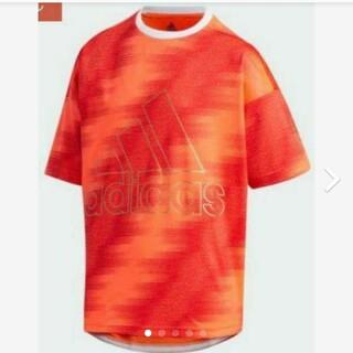 アディダス(adidas)の【新品】【サイズ:120】adidasキッズTシャツ(インスパイア赤)(Tシャツ/カットソー)
