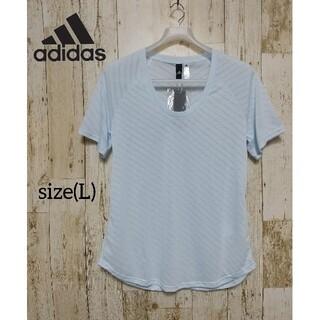 アディダス(adidas)の【adidas】レディース シースルーライン Tシャツ(L)(Tシャツ(半袖/袖なし))