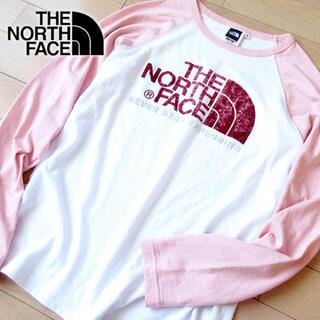 ザノースフェイス(THE NORTH FACE)の土日限定価格! 美品 S ノースフェイス レディース カットソー ピンク(Tシャツ(長袖/七分))