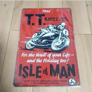 5TA57 マン島 TT レース クラシック 金属製 看板(雑貨)