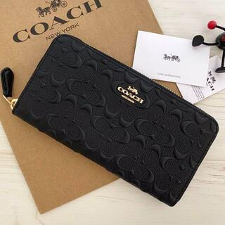 COACH - COACH長財布 コーチ正規品財布   ブラック 財布 新品未使用