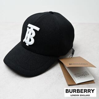 BURBERRY - 新品 BURBERRY ロゴ ベースボールキャップ 黒