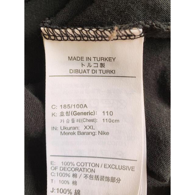 NIKE(ナイキ)の希少【NIKE】ナイキ 総柄デザイン XL 古着 ブラック トルコ製 メンズのトップス(Tシャツ/カットソー(半袖/袖なし))の商品写真