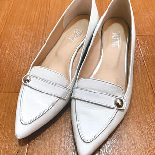 プールサイド(POOL SIDE)のプールサイドpoolside24.5cmポインテッドフラットシューズパンプス(ローファー/革靴)