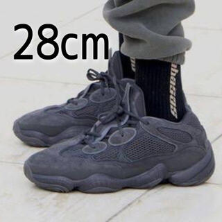 アディダス(adidas)の美品 ADIDAS YEEZY 500 Utility Black 28cm(スニーカー)