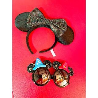 ディズニー(Disney)のミッキー ミニー カチューシャとサングラスのセット(キャラクターグッズ)