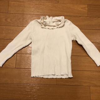90 アプレレクール 白 長袖 リブ(Tシャツ/カットソー)