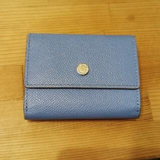 UNITED ARROWS - 美品 ユナイテッドアローズ 三つ折りコンパクト財布 ブルー レザー