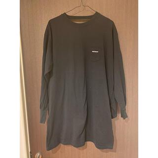 アメリカーナ(AMERICANA)のAmericana アメリカーナ バックオープン カットソー ロンT 黒(Tシャツ(長袖/七分))