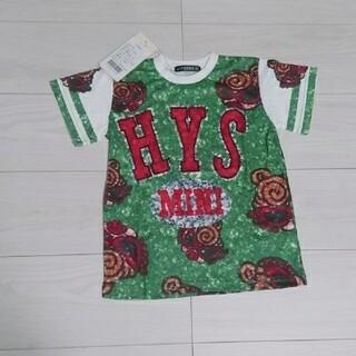 ヒステリックミニ(HYSTERIC MINI)の新品 ヒスミニ スパンコール Tシャツ 01(Tシャツ/カットソー)