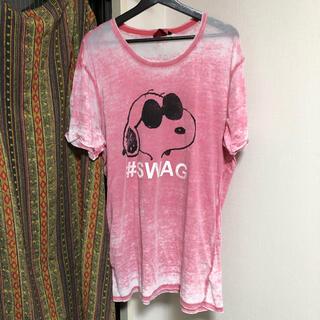 ピーナッツ(PEANUTS)の◯USED◯ALCOTT × PEANUTS #SWAG プリント Tシャツ (Tシャツ/カットソー(半袖/袖なし))