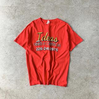 ギルタン(GILDAN)のGILDAN プリントTシャツ レッド 古着(Tシャツ/カットソー(半袖/袖なし))