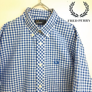 FRED PERRY - 【美品】FRED PERRY フレッドペリー 半袖 シャツ ギンガムチェック S