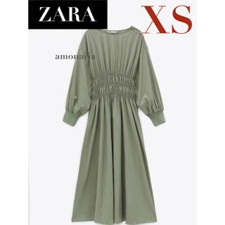 ZARA - 【新品/未着用】ZARA ウエストゴムワンピース ギャザーワンピース ワンピース