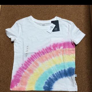 ギャップキッズ(GAP Kids)の【新品】【サイズ:120】 GAP KIDSレインボーTシャツ(Tシャツ/カットソー)