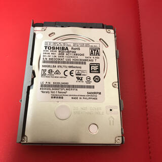 東芝 - 2.5インチ HDD 500GB PS3 HDD♢CECHA00/CECHB00