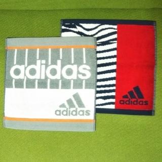 アディダス(adidas)のadidas タオルハンカチ2点セット A (ハンカチ/ポケットチーフ)