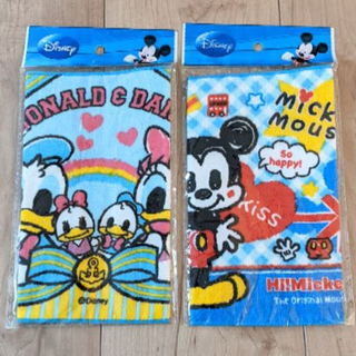 Disney - ☆新品☆ ディズニー ミニタオル 2枚セット