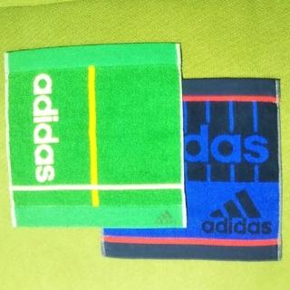 アディダス(adidas)のadidas タオルハンカチ2点セット B(ハンカチ/ポケットチーフ)