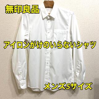 MUJI (無印良品) - 無印良品 アイロンがけのいらないシャツ 白