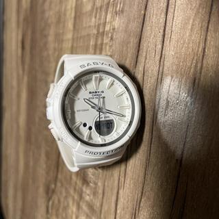 ベビージー(Baby-G)のBABY-G  CASIO 白 ホワイト ステップ トラッカー ランニング (腕時計)