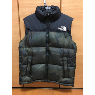 THE NORTH FACE - THE NORTH FACE◆ダウンベスト/ND91634/XL/カモフラ