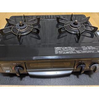 リンナイ(Rinnai)のリンナイ 2口コンロ グリル付き  左強火力 都市ガス用(調理機器)