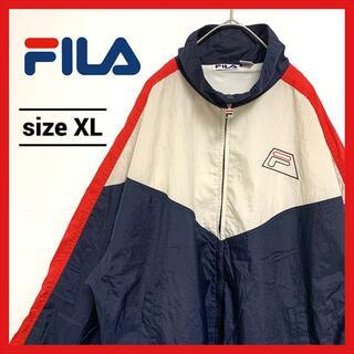 フィラ(FILA)の90s US古着 フィラ ナイロンジャケット オーバーサイズ ビックロゴ XL(ナイロンジャケット)