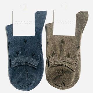 マッキントッシュフィロソフィー(MACKINTOSH PHILOSOPHY)の新品 マッキントッシュ フィロソフィー ソックス 靴下 2足セット レディース(ソックス)