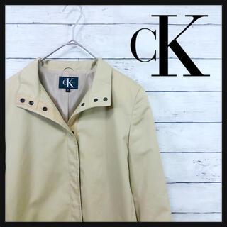 ck Calvin Klein - CK カルバンクライン クリームベージュ ステンカラーコート薄手春先にオススメ