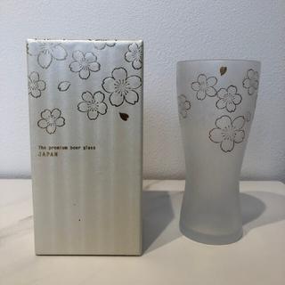 【新品未使用】ビールグラス 桜柄(グラス/カップ)