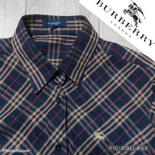 BURBERRY - バーバリーロンドン Burberry ノバチェック 長袖シャツ Lサイズ