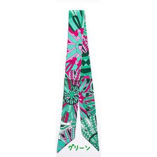 ▲スカーフ2▲ツイリー▲グリーン▲ショッピング▲フラワー▲ ツイリースカーフ(バンダナ/スカーフ)