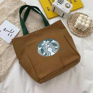Starbucks Coffee - 【スターバックス海外限定】日本未発売 トートバック エコバッグ 褐色 一点