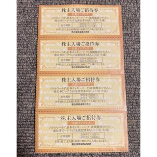 株主優待ご招待券(モンキーパーク等)4枚セット(遊園地/テーマパーク)