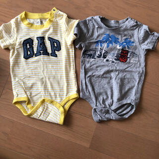 babyGAP - babyGAP ロンパース トップス  半袖  2点セット