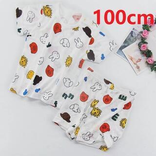 ライオンミッフィーパジャマ ルームウェア  半袖 半ズボン 上下セット100cm(パジャマ)