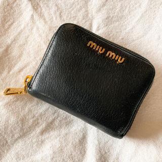miumiu - miumiu ミュウミュウ 財布 コインケース 黒 ブラック