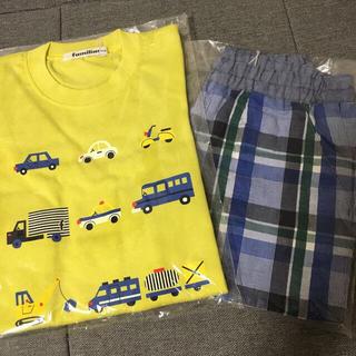 familiar - タグ付未使用!ファミリア100cm長袖Tシャツと4分丈パンツ