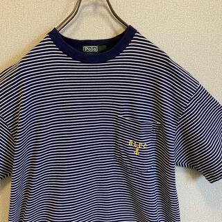 POLO RALPH LAUREN - 90s ラルフローレン ボーダー Tシャツ 刺繍ロゴ ゆるだぼ  vintage