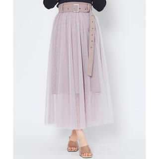 REDYAZEL - レディアゼル チュール ロング スカート フレア ピンク